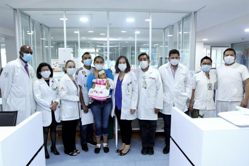 Bebé de seis meses recibe trasplante de hígado en el Hospital de Pediatría del CMN Siglo XXI