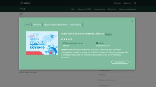 """Portada del curso en línea """"Todos contra la epidemia COVID-19"""""""