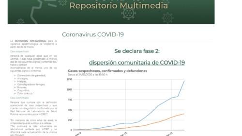 Captura de pantalla del COVID-19, crea repositorio multimedia del IMSS