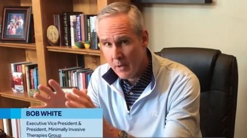 Bob White, Vicepresidente ejecutivo y presidente del Grupo de Terapias Mínimamente Invasivas de Medtronic