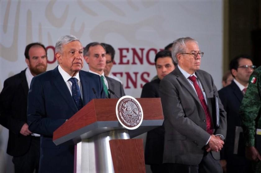 Conferencia de prensa en Palacio Nacional 20200324