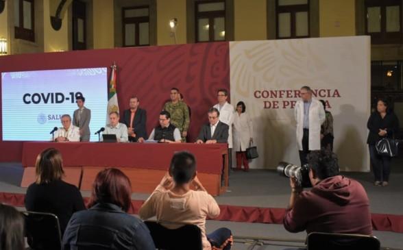 Conferencia encabezada por Hugo López-Gatell, subsecretario de Prevención y Promoción de la Salud, desde Palacio Nacional