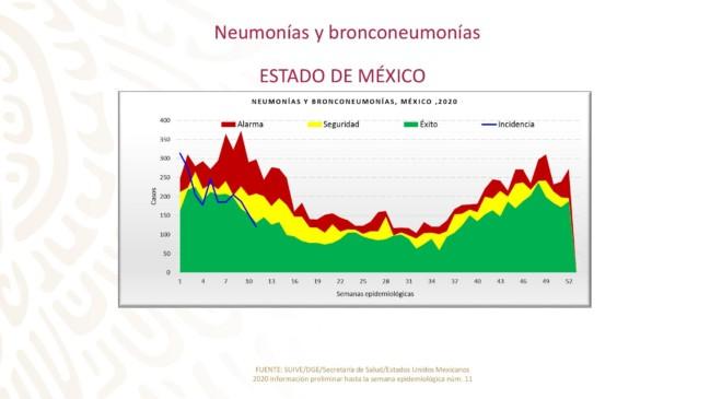 Casos de neumonía y bronconeumonía Estado de México