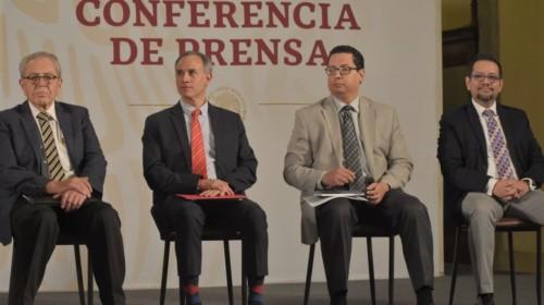 Conferencia de prensa en Palacio Nacional