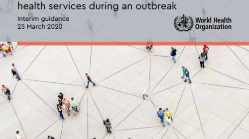 "Portada del documento ""COVID-19: Operational guidance for maintaining essential health services during an outbreak"""