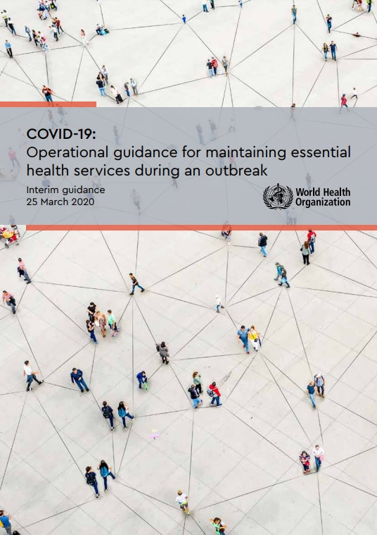 """Portada del documento """"COVID-19: Operational guidance for maintaining essential health services during an outbreak"""""""