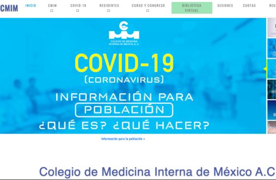 Colegio de Medicina Interna de México, uno de los colegios que se unen para proteger a sus especialistas en riesgo.