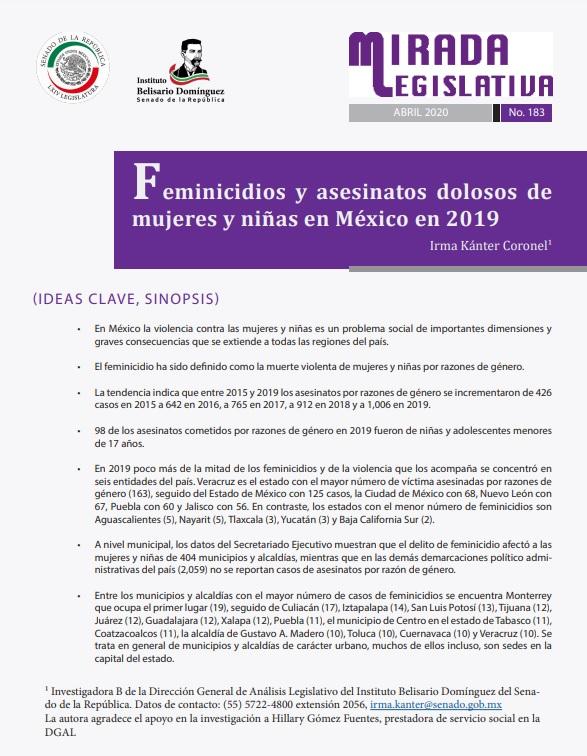 """Portada de publicación de """"Mirada Legislativa"""""""