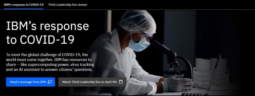 Captura de pantalla del sitio de IBM