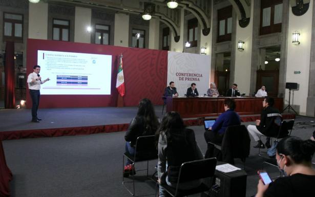 conferencia de prensa sobre el informe diario sobre créditos