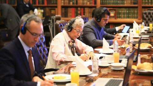 reunión virtual con gobernadores de las regiones sur-sureste del país