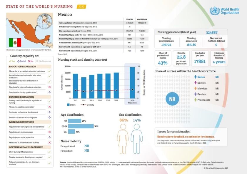 Datos de enfermería en México