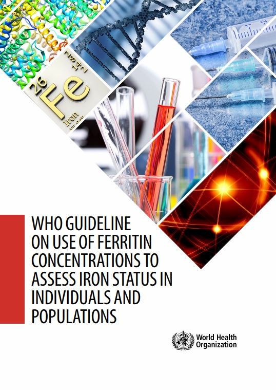 Portada WHO guideline on use of ferritin concentrations to assess iron status in individuals and populations