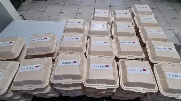 Cajas con logotipo de BIOCODEX