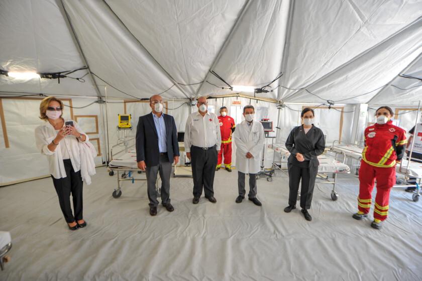 Fundación Jenkins apoyó a través de la Cruz Mexicana la instalación de un hospital para pacientes COVID dentro del Instituto Nacional de Enfermedades Respiratorias (INER)