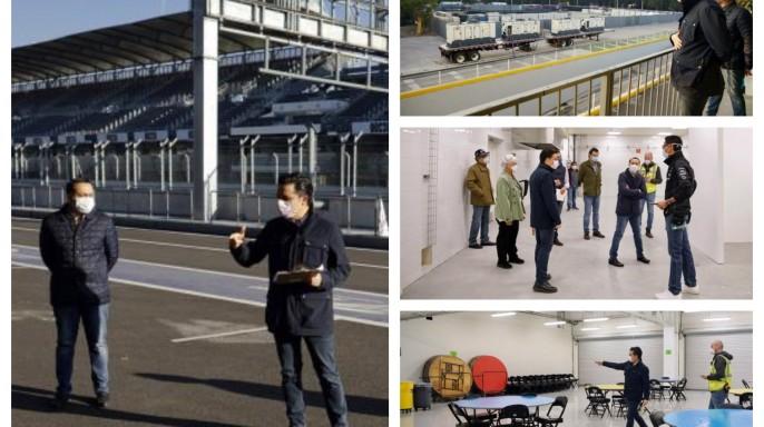 Mosaico de imágenes del Autódromo Hermanos Rodríguez