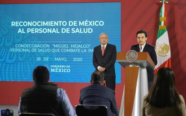 Conferencia de prensa que encabezó el Presidente de la República en Palacio Nacional