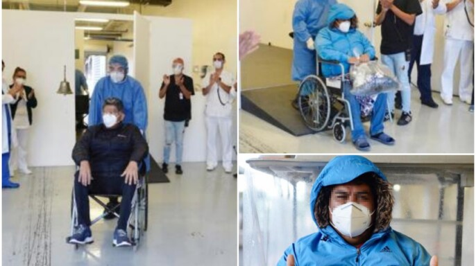 Egresan del Hospital de Expansión Autódromo Hermanos Rodríguez cinco pacientes que superaron el COVID-19