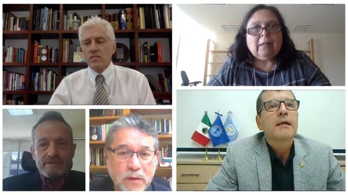 Juan Rivera Dommarco, Celia Alpuche Aranda, Samuel Ponce de León, Jean Marc Gabastou y Alejandro Macías Hernández
