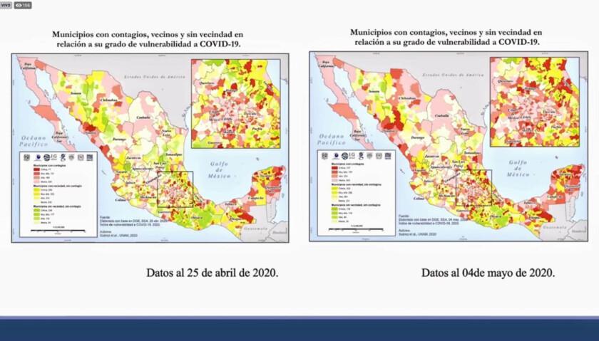 mapas de municipios más propensos a tener complicaciones por la crisis sanitaria