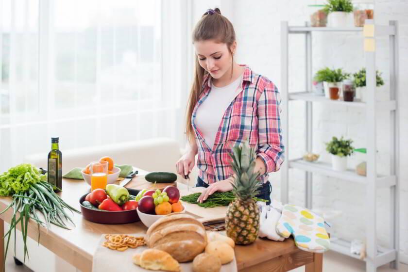 cocinando en casa