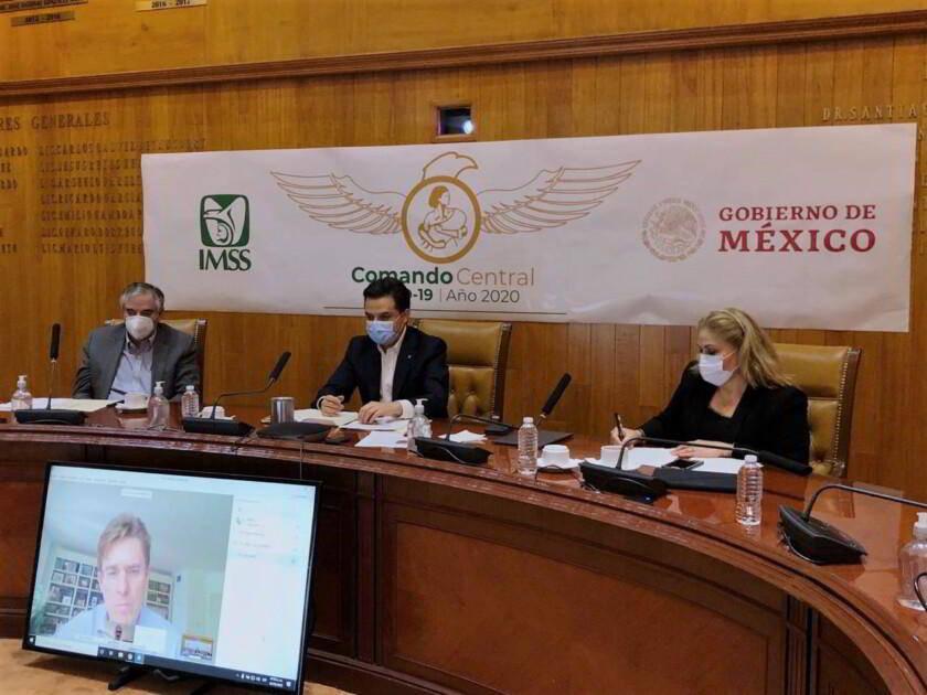 director general del IMSS, y director de Economía del Ayuntamiento de Madrid en videoconferencia