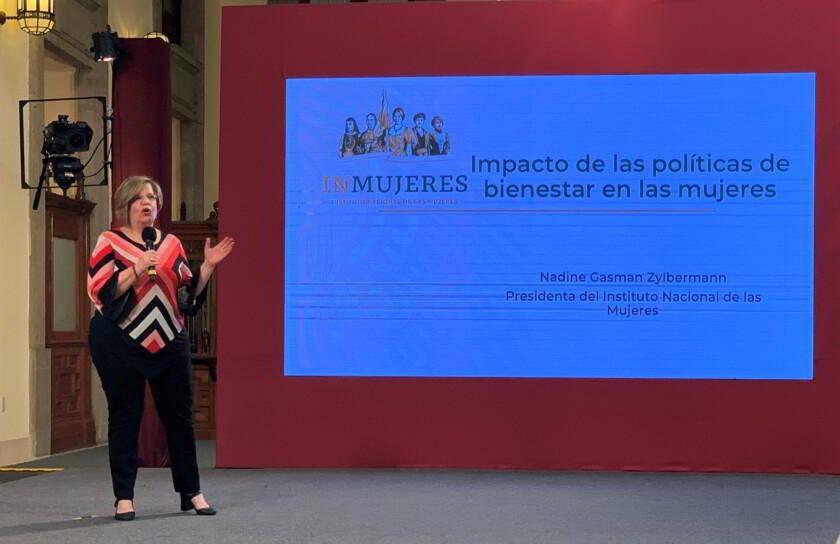 Nadine Gasman, presidenta del Instituto Nacional de las Mujeres (Inmujeres)