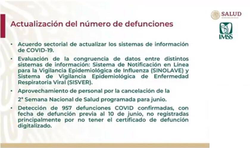 Ilustracipon Actualización de número de defunciones IMSS