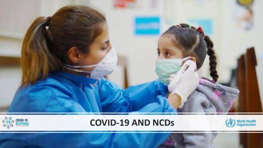 """Portada de """"Rapid assessment of service delivery for NCDs during the COVID-19 pandemic"""""""