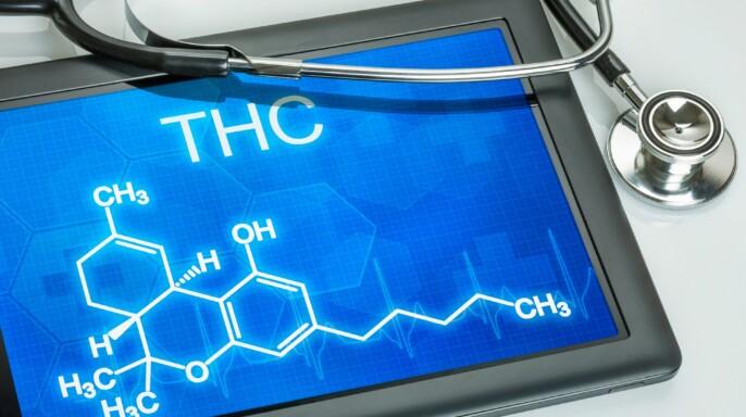 Tablet con la formula de THC