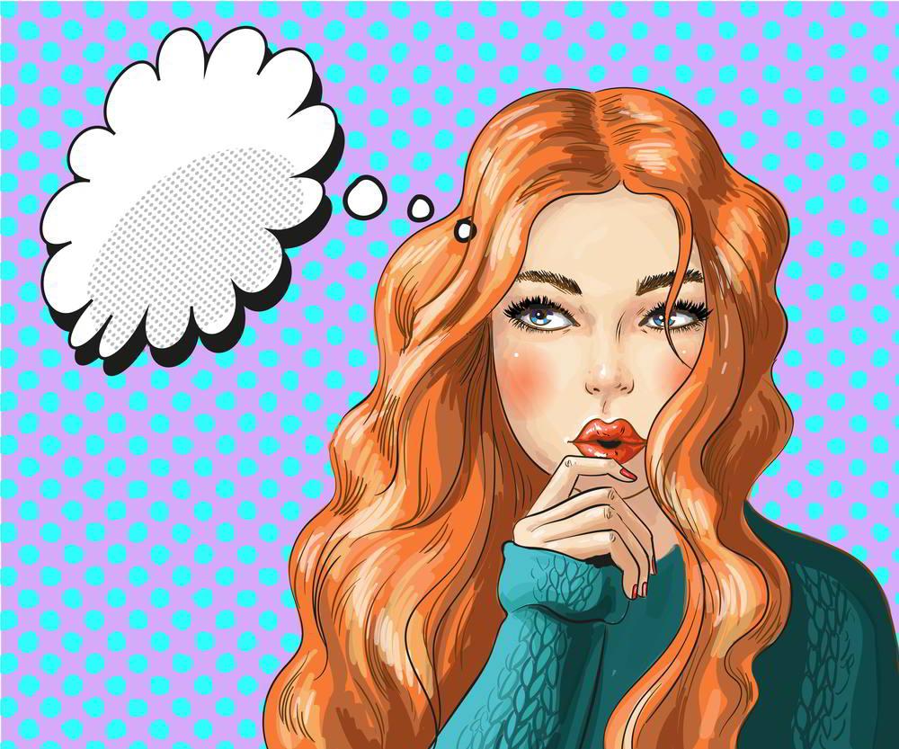 ilustración de joven con dudas