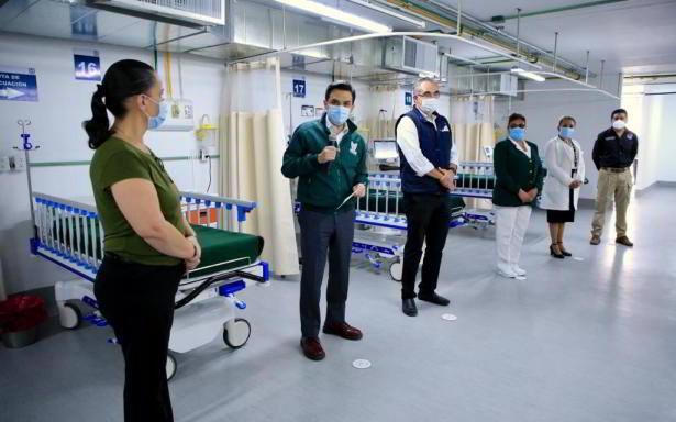 IMSS y Gobierno de Puebla ponen en operación Módulo Hospitalario Temporal en la UMF No.6 en la capital del estado