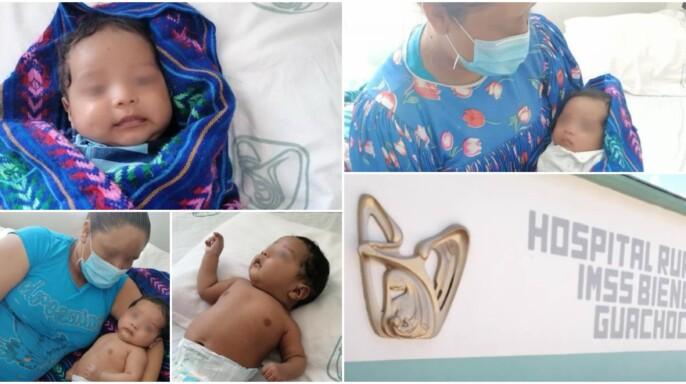 Eider Elio, primer bebé rarámuri atendido por COVID-19 en el hospital del IMSS-BIENESTAR de Guachochi