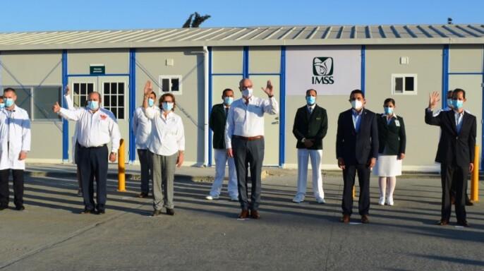 Inauguran Módulo Hospitalario Temporal de Tijuana para atención de pacientes COVID-19