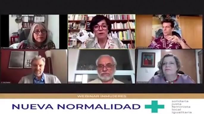 """webinar """"Nueva normalidad, más solidaria, justa, feminista, local e igualitaria"""", con el tema: Futuro Post-Covid: oportunidad de transformación"""