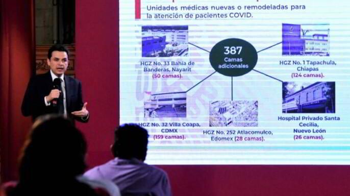 Zoé Robledo, con presentación IMSS cuenta con 184 hospitales COVID, 12 mil 734 camas y la conformación de 2 mil 420 Equipos médicos.