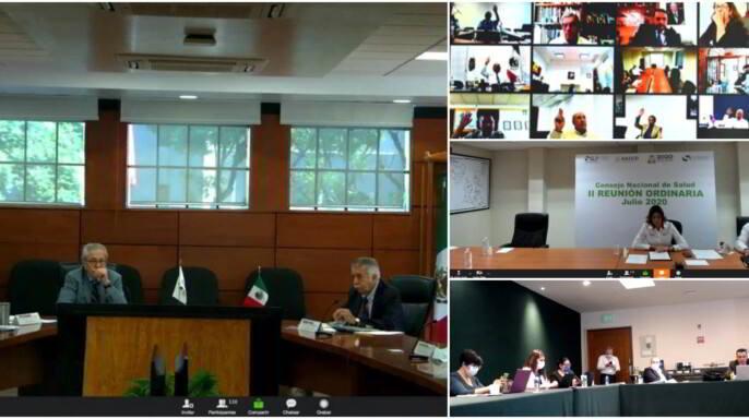 En sesión virtual, el secretario de Salud, Jorge Alcocer Varela, inauguró la Segunda Reunión Ordinaria del Consejo Nacional de Salud (Conasa).