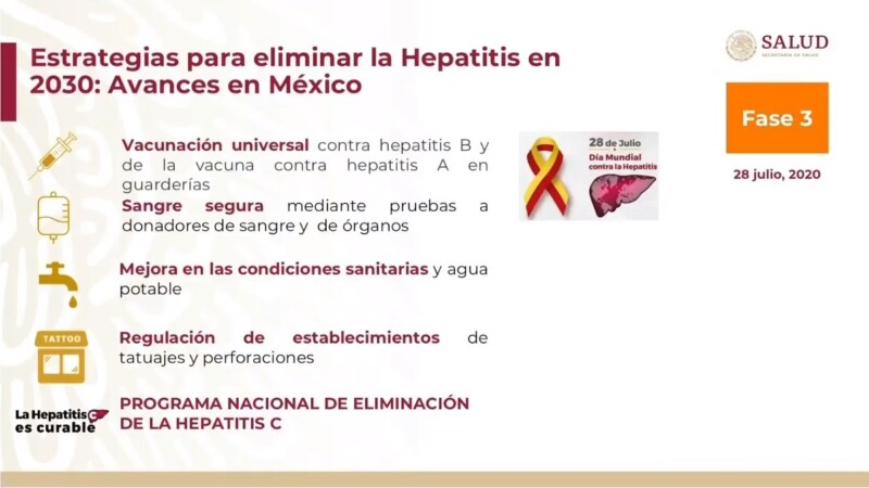 Estrategias para erradicar hapatitis en México