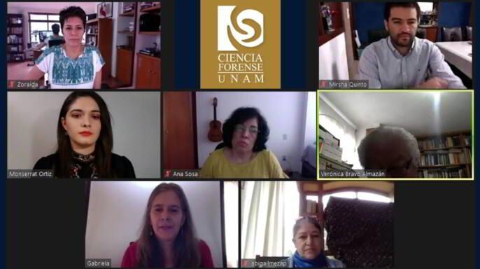 Examen profesional en reunión virtual por videoconferencia