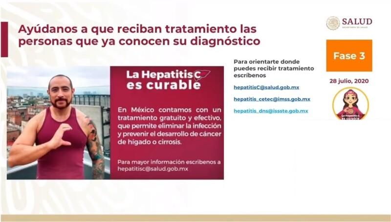 Información para prevenir nuevas infecciones, reducir la carga de la enfermedad y mortalidad por VHC y las enfermedades asociadas