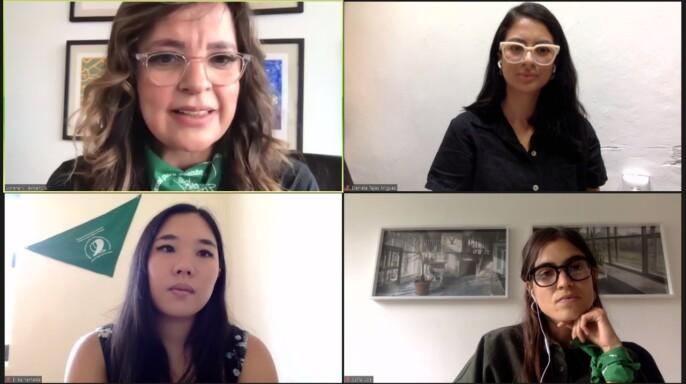 """Videconferencia de sexto conversatorio virtual """"Derecho a decidir de las mujeres"""""""