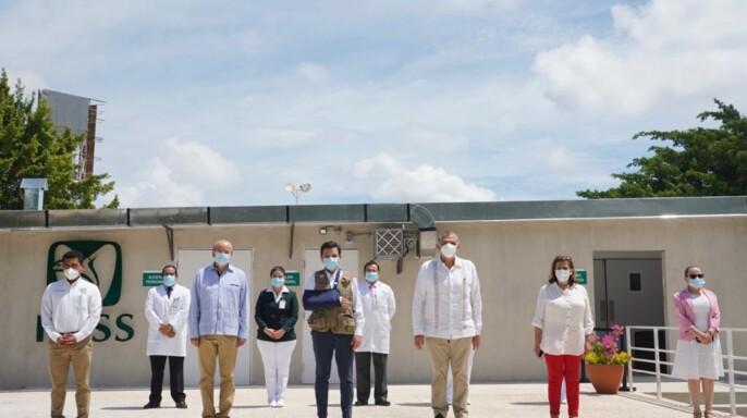IMSS y gobierno de Tabasco ponen en operación Módulo Hospitalario Temporal del Centro de Seguridad Social Villahermosa
