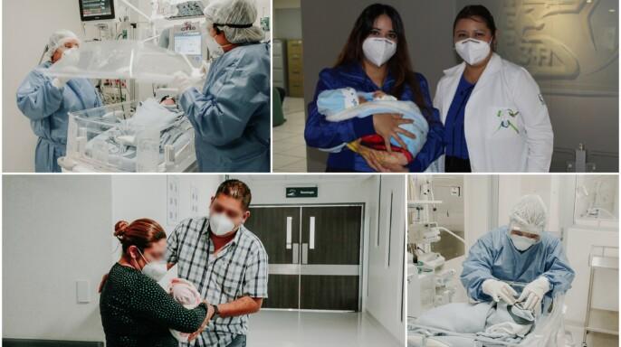 Médicos del IMSS en Tapachula y Ciudad de México logran con éxito egresar a recién nacidos libres de COVID-19