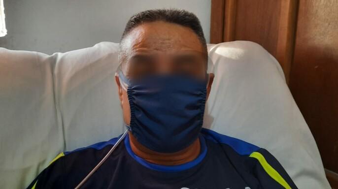 """Paciente de la cama 314 del """"Piso de la Esperanza"""", en el Hospital General de Zona (HGZ) No. 7 del Instituto Mexicano del Seguro Social (IMSS)"""