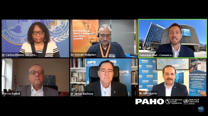 Sesión virtual informativa para prensa de la OPS sobre COVID-19