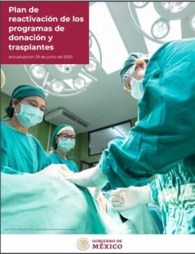 Portada Plan de reactivacion de los programas donación y trasplantes