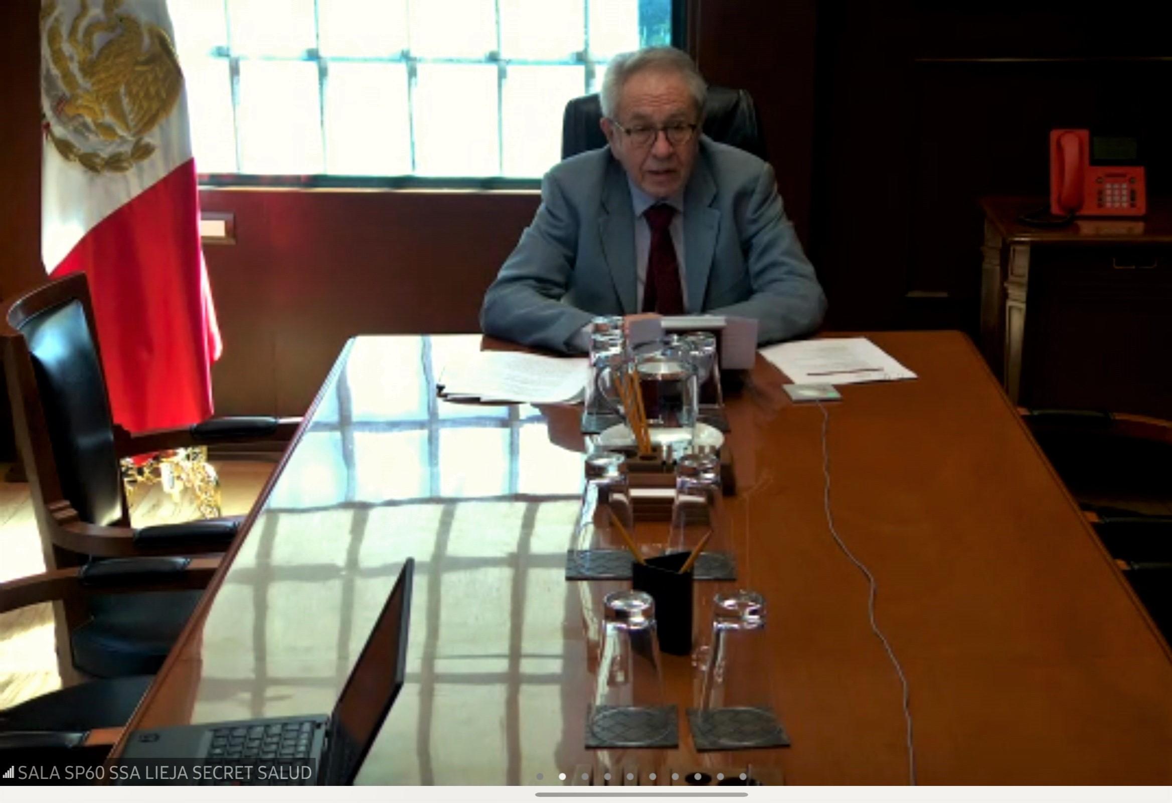 Secretario de Salud, Dr. Jorge Alcocer Varela.