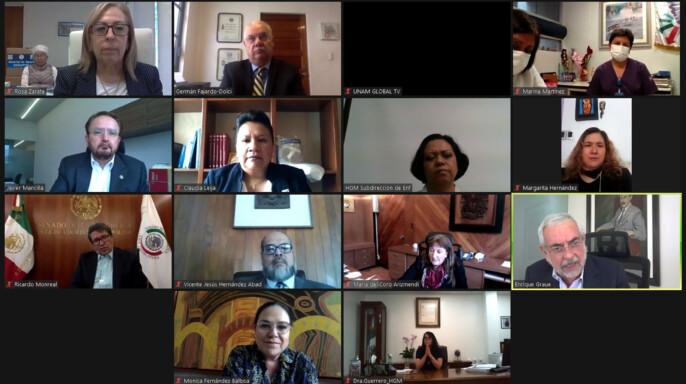 videoconferencia del donativo