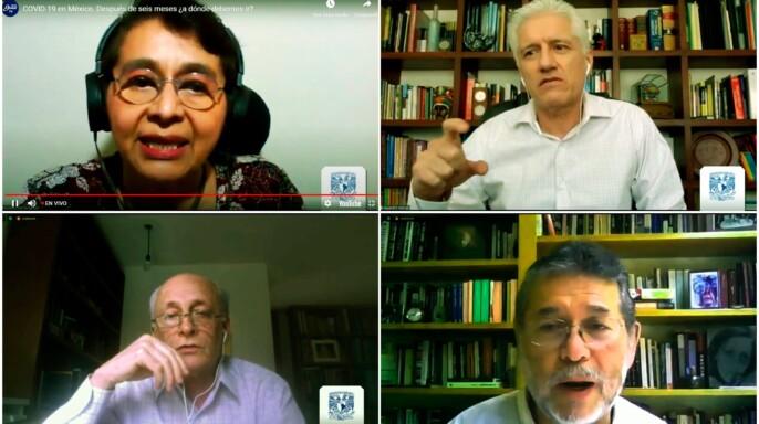 Sesión virtual COVID-19 en México. Después de seis meses ¿a dónde debemos ir?
