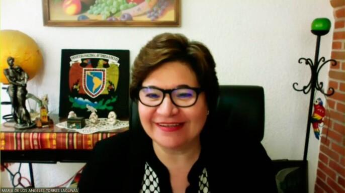 María de los Ángeles Torres Lagunas, jefa de la División de Estudios de Posgrado de la Escuela Nacional de Enfermería y Obstetricia (ENEO) de la UNAM